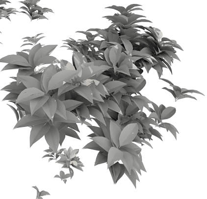 High poly leaves