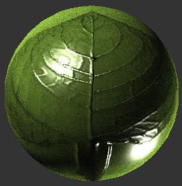 ตัวอย่าง วสดุ ใบไม้ leavesshader